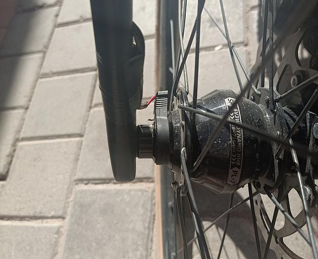 ...and attach it to your dynamo hub for free power!