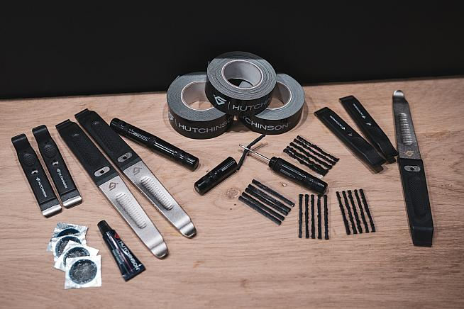 Hutchinson's repair kits cover all aspects of running tubeless tyres.