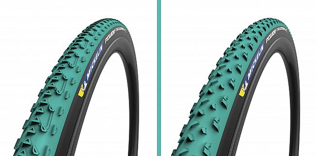 The Michelin Power Jet (left) and Mud tyres are designed for cyclocross racing in dry to soft conditions.