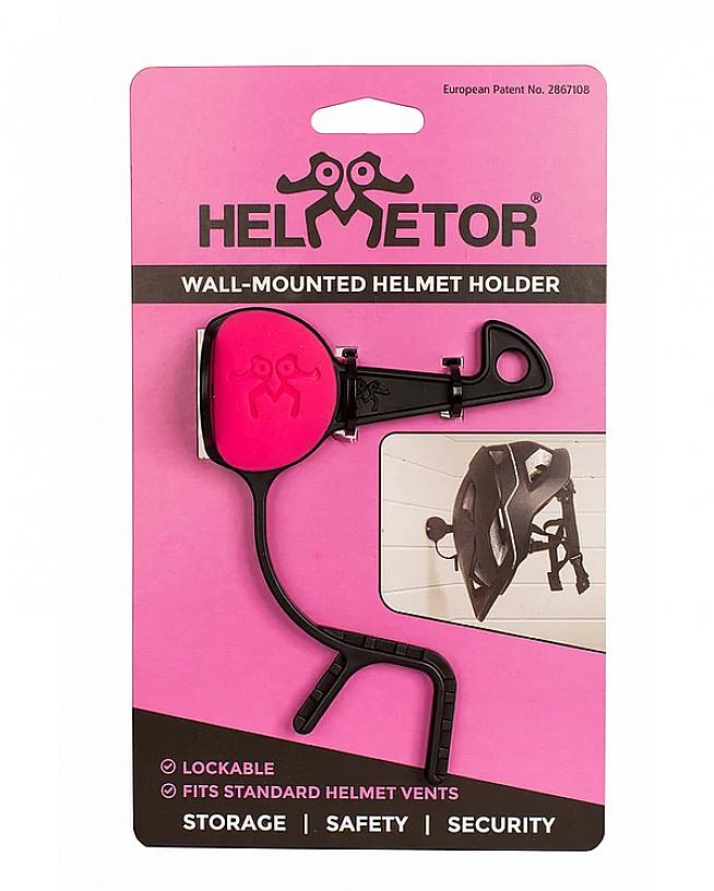Helmetor is a nifty hanger for storing your cycle helmet out of harm's way.