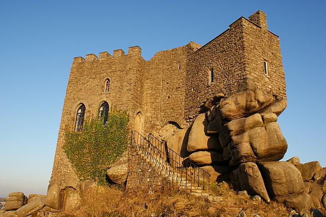 Carn Brea Castle is among the sights on the new West Kernow Way. Photo: Philip Male / Wikimedia Commons