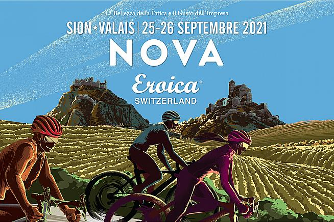 Modern bikes welcome on a medieval and majestic ride: Nova Eroica Switzerland.