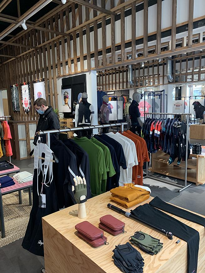 More space to exhibit all the Rapha kit