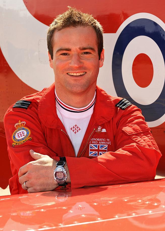 Red Arrows pilot Lt Jon Egging.
