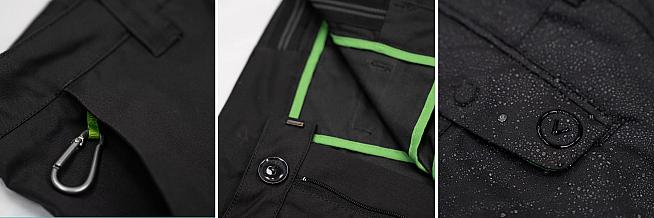 Magnetic pocket closure and a key carabiner along with reflective trim are among the useful features.