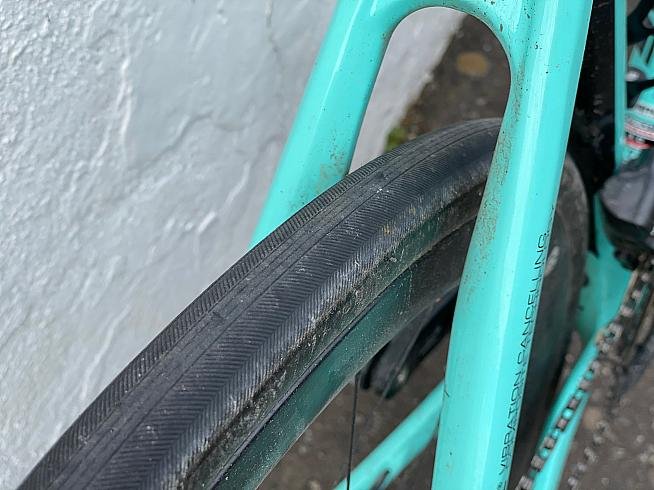After 1200km of rough roads the Cadex Race tyres are barely worn and puncture-free.