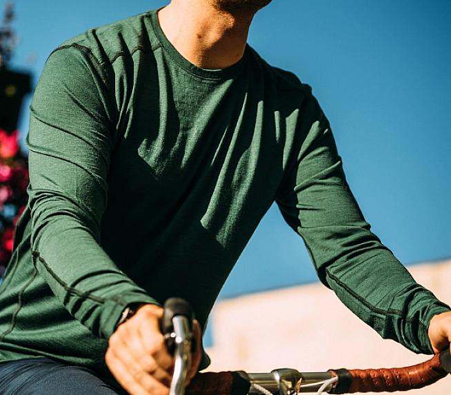 The Vulpine Merino Crew works well on and off the bike.