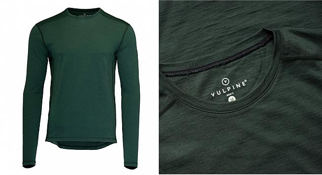 100% pure merino wool helps regulate temperature while cycling.