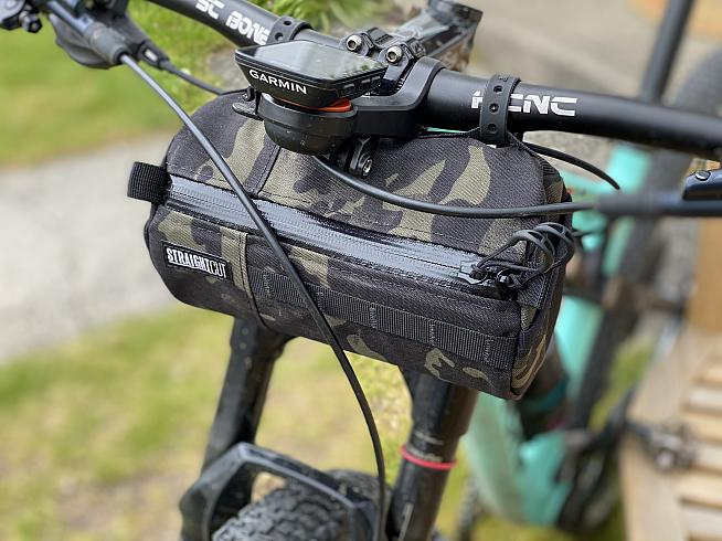 The Bagel fits on bikes with exposed cables too - ideal for a day on the trails.