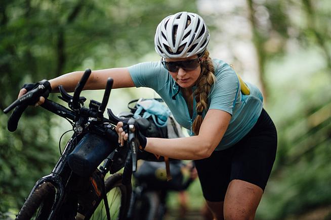 Jaimi Wilson finished 1st woman and 3rd overall at GBDuro 2021. Photo: Maciek Tomiczek