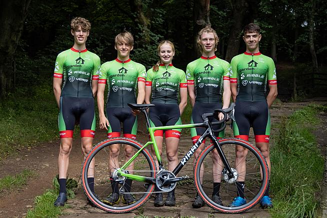 The Garden Shed-Ribble-Verge team for the 2021 cyclocross season.