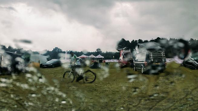 The sportive was officially called off after a torrential downpour. Photo: Alex Beyfus